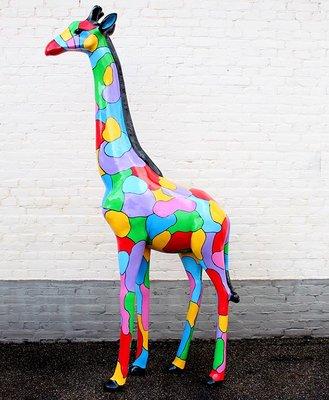 Giraffe 205cm -kunst beeld- cloudy