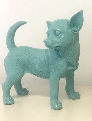 Chihuahua beeld polyester pastel blauw