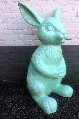 Haas XL 90 cm polyester beeld konijn pastel groen