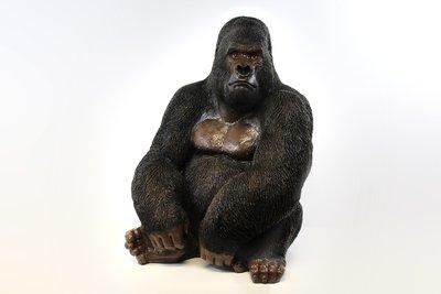 Aap Gorilla 80cm polyester beeld