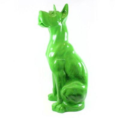 Duitse (deense )dog groen hoogglans 95 cm