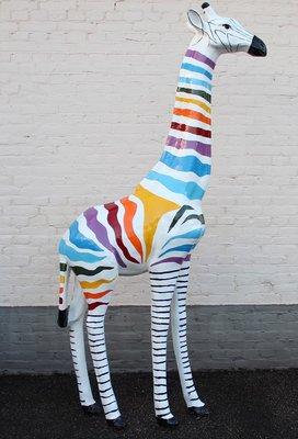 Giraffe 205cm -kunst beeld- afri design handwerk