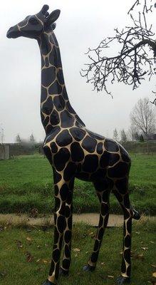 Giraffe 210cm -kunst beeld- goldline design handwerk