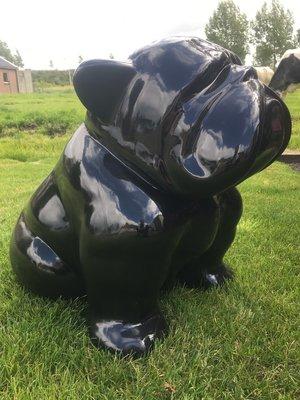 Engels bulldog - abstracte kunst uitvoering - zwart