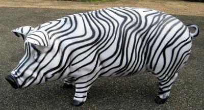 enveloppen spaarvarken 100cm - zebra design