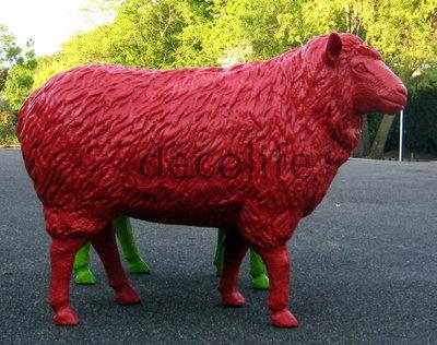 levensgroot rood  schaap - 113cm