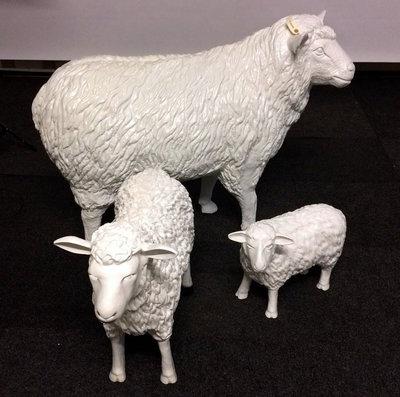levensgroot wit schaap - 113cm