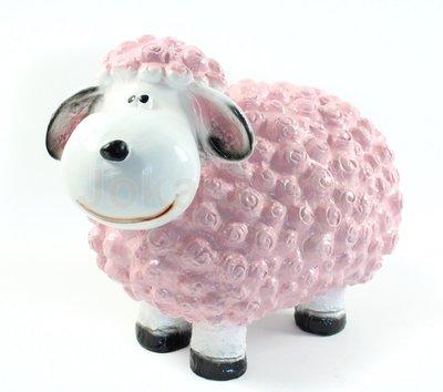 Wollie  schaap - medium - roze