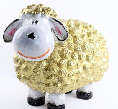 Wollie  schaap - groot - goud
