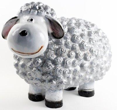 Wollie  schaap - groot - zilver