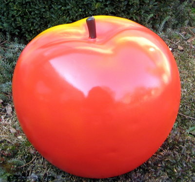 Appel polyester 45cm rood