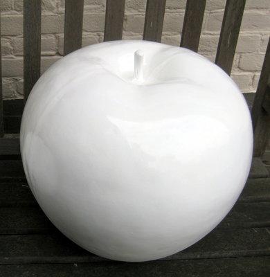 Appel polyester wit hoogglans met  45 cm