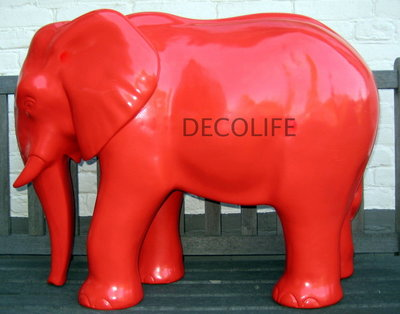 OLIFANT OLLIE POLYESTER rood 75cm