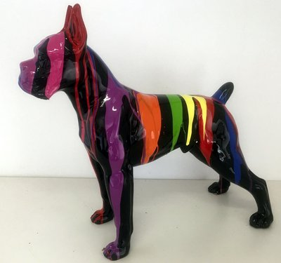 Boxer polyester kunstbeeld dripping
