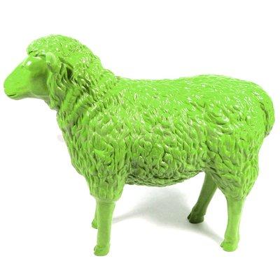 schaap polyester beeld 80 cm lemon groen