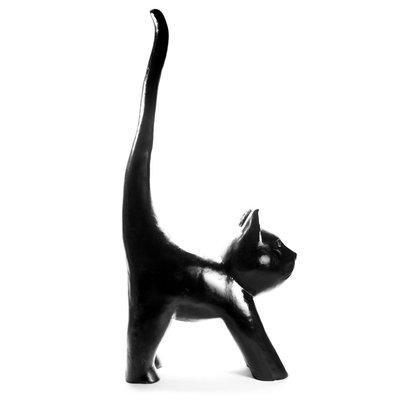 Kat-polyester-Beeld XXXL gestrekt zwart