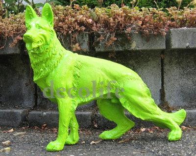 duits herder beeld polyester groen