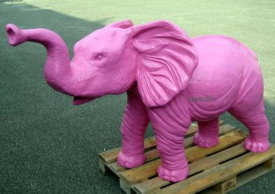 olifant fuchsia polyester kunst beeld 325,=