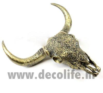Bizon schedel gebronsd kunst Keltisch wanddecoratie