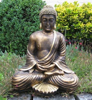 Boedha Beeld Zittend Lotus 43 cm