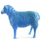 schaap kunst blauw 80 cm