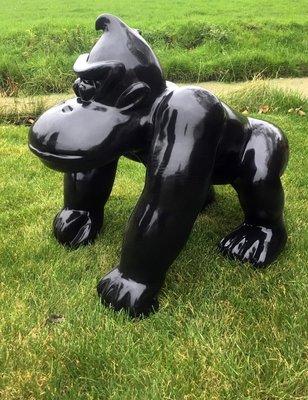 aap Kong kunst beeld zwart
