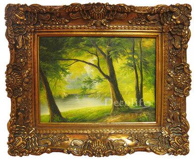 Schilderij incl. Lijst - Landschap Bos 30x40cm