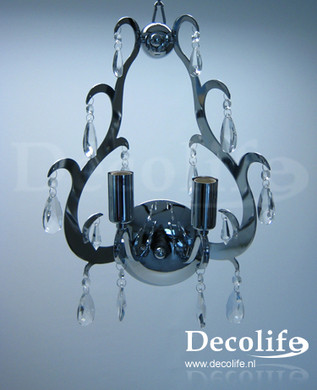 Lamp Milano Wand Lamp 2 lichts chrome kristal
