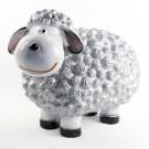 Wollie  schaap - medium - zilver