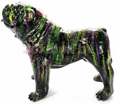 Engelse  bulldog kunst beeld colorful splash