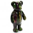 Teddy Beer colorful splash polyester kunst beeld