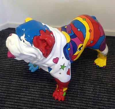 Engels bull Dog Spiky Picasso stijle
