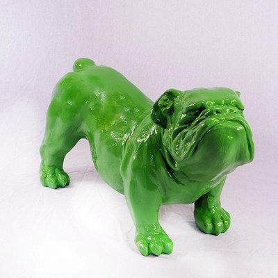 engelse bull dog bulldog buldog Ceasar polyester kunst