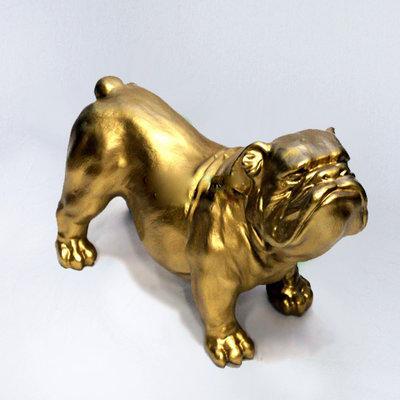 engelse bull dog bulldog buldog Ceasar polyester kunst goud