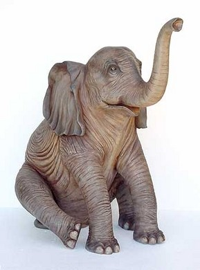 Olifant polyester zittend 160cm