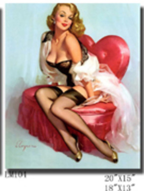 Pin Up Girls op Canvas geprint 20 soorten