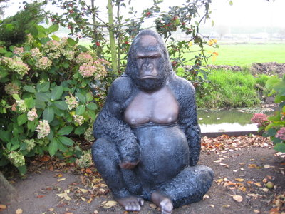 Aap Gorilla 125cm polyester beeld