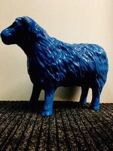 schaap lam 50cm blauw
