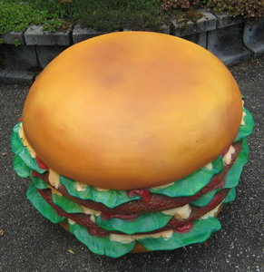 hamburger reclame polyester