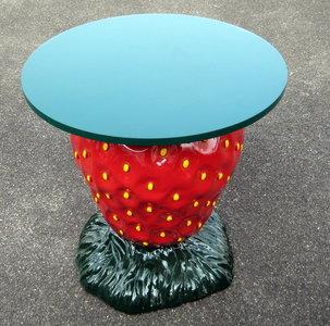 aardbei tafel polyester 90cm