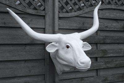 buffelhoofd wit polyester
