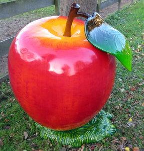 Appel Polyester Super Groot Decoratie Fruit Decolife De Polyesterbeelden En Decoratie Webshop