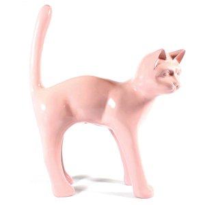 kat hoge rug polyester beeld