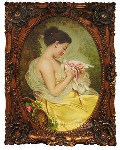 Schilderij olieverf 145x118cm Portret