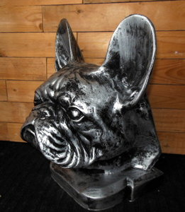 franse bulldog oud zilver