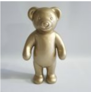 beeld teddy beer polyester beeld goud