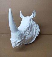 rhino - neushoorn-kop -beeld- polyester