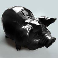 spaarvarken XL 50 cm zwart