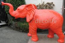 olifant rood polyester kunst beeld