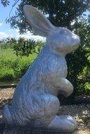 konijn zilver 130 cm polyestert beeld